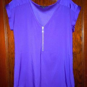 Royal purple blouse